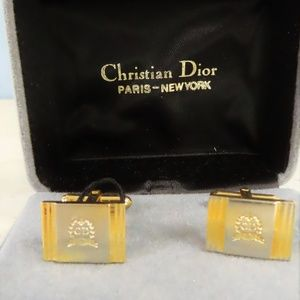 Boxed Set of Signed Dior Cuff Links
